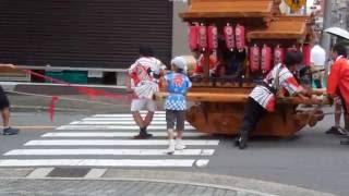 大阪 五条宮 夏越祭の神輿と山車