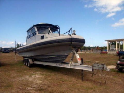 32' Sea Ark Marine Police Boat with Trailer on GovLiquidation.com