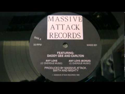 "Massive Attack - Any Love 12"" single VERY RARE Featuring Daddy Gee and Carlton"