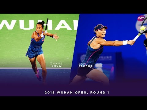 Zhang Shuai vs. Sam Stosur | 2018 Wuhan Open Round 1 | WTA Highlights 武汉网球公开赛