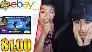 My 10 Year Old Little Brother Sold My Rare Fortnite Account On EBAY For $1 Dollar! RAGE