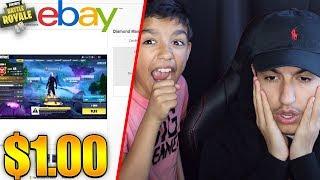 Mon petit frère de 10 ans a vendu mon compte Fortnite rare sur EBAY pour 1 $ dollar! rage