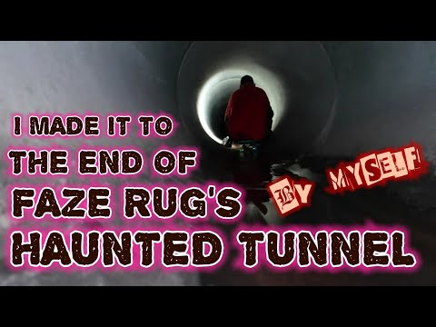 (END OF FAZE RUG TUNNEL) ONLY PERSON EVER to MAKE IT OUT OF FAZE RUG'S HAUNTED TUNNEL (ALL ALONE)
