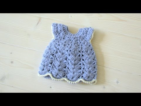 How to crochet a lace animal / doll dress - Wooly Wonders Crochet Animals