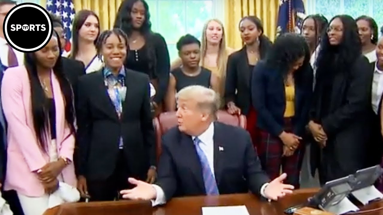 Trump EMBARRASSES Himself In Front Of Women's Basketball Team