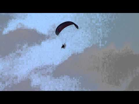Paramotor paramotoring flying West Kirby Wirral Lumix FZ45 video & still