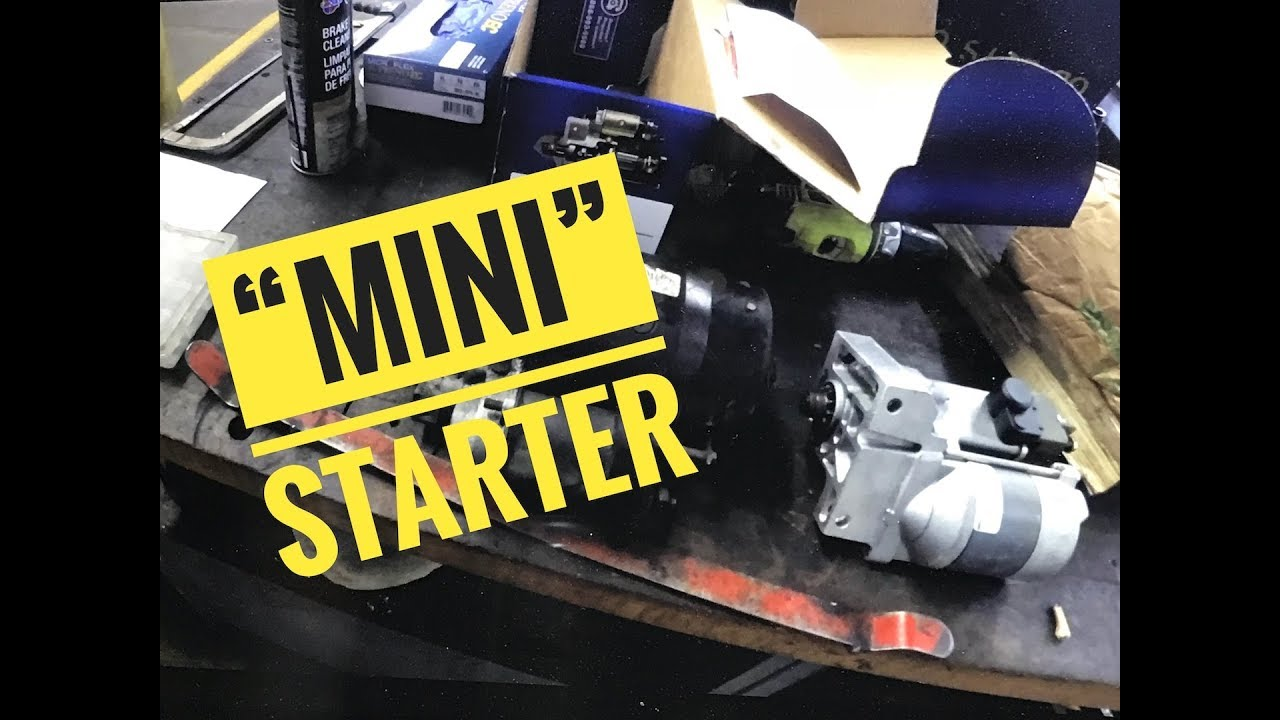 hight resolution of  mini starter installation g body buick grand national re upload