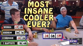 Poker Time: Can Andrew Neeme Escape This Massive 4-way Cooler?