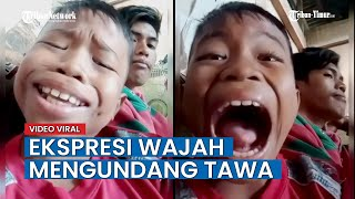 VIRAL Video Bocah Lelaki Bernyanyi dengan Ekspersi Lucu