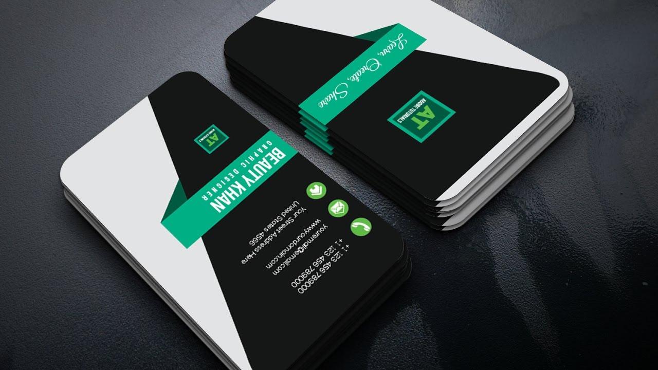 Adobe illustrator Tutorial | Simple Clear Corporate Business Card ...