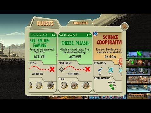 Fallout Shelter Food, Glowrious Food Cheese, Please!