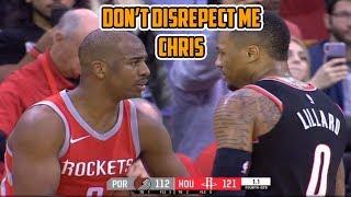 Damian Lillard Felt Disrespected by Chris Paul, Get's In His Face