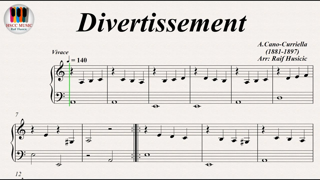 Divertissement - Antonio Cano Curriela, Piano