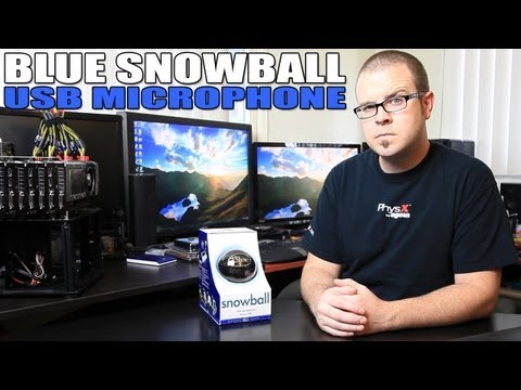 Blue Snowball USB Microphone Unboxing