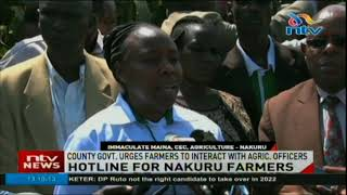 Nakuru county government urges farmers to interact with agricultural officers