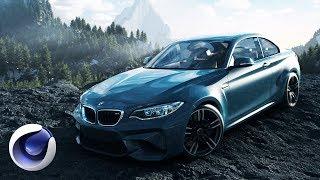 Создание эффектной 3D-композиции с автомобилем BMW в Cinema 4D. Часть 2 из 2.