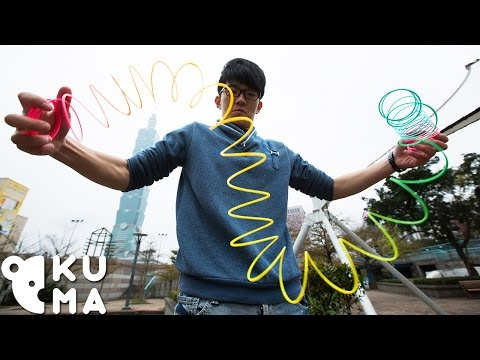 Ridiculous Tricks You Can Do With a Slinky!