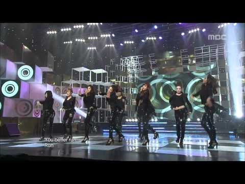 Girls' Generation - Run Devil Run, 소녀시대 - 런 데빌 런, Music Core 20100410