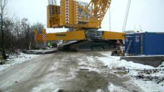 Deme Macarale Liebherr LR 1600/2 Narrow Track -first crawlering with Full Boom -part 1