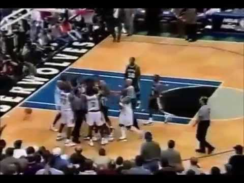 Joe Smith vs David Robinson + Perdue flagrant foul on KG 1999 NBA Playoffs