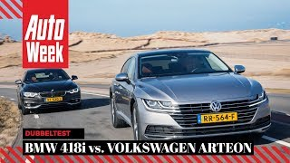 Volkswagen Arteon 1.5 TSI vs. BMW 418i Gran Coupé - AutoWeek Dubbeltest - English subtitles