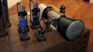 Elektrónkový zosilňovač PL504 s osciloskopom | PL504 tube amplifier with oscilloscope