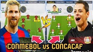 CONMEBOL vs CONCACAF TEAM ... Quien es mejor? - FIFA 17 Modo Carrera
