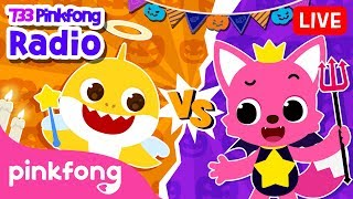 Angel Baby Shark vs Devil Pinkfong | 733 Pinkfong Baby Shark Radio | Pinkfong Show for Children