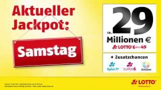 LOTTO-Jackpot: 29 Mio. € am Samstag, 21.01.2017