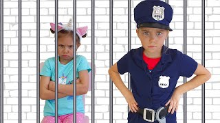 Pretend Play Police by Elina and Julia funny girls