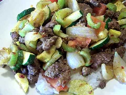 Quick Beef Garlic Ginger & Summer Vegetable Saute' Rice 2 ...