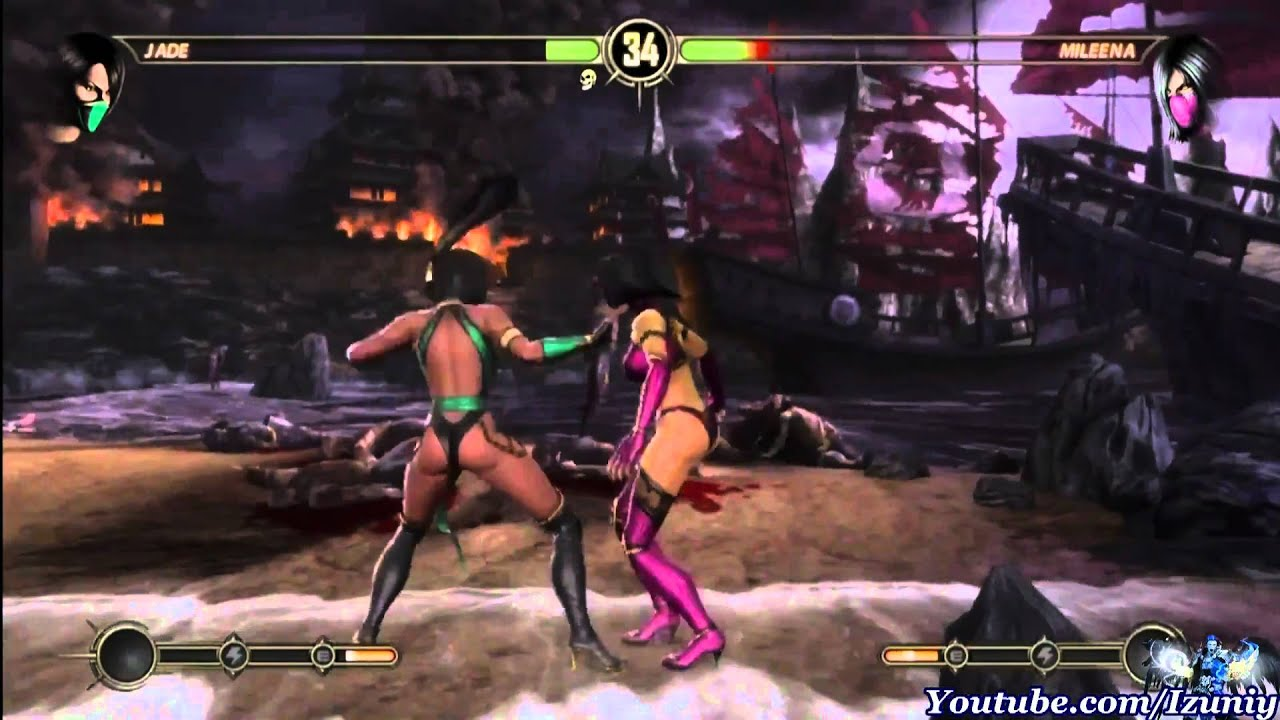 Mortal Kombat 9 Jade Story Mode Chapter 10 Jade Vs Mileena