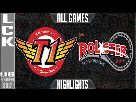 SKT vs KT Highlights ALL GAMES LCK Playoffs Semifinal Round 3 Summer 2017 SKT T1 vs KT Rolster