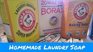 Homemade Laundry Detergent...18lbs / 498 Loads for 20 Bucks.