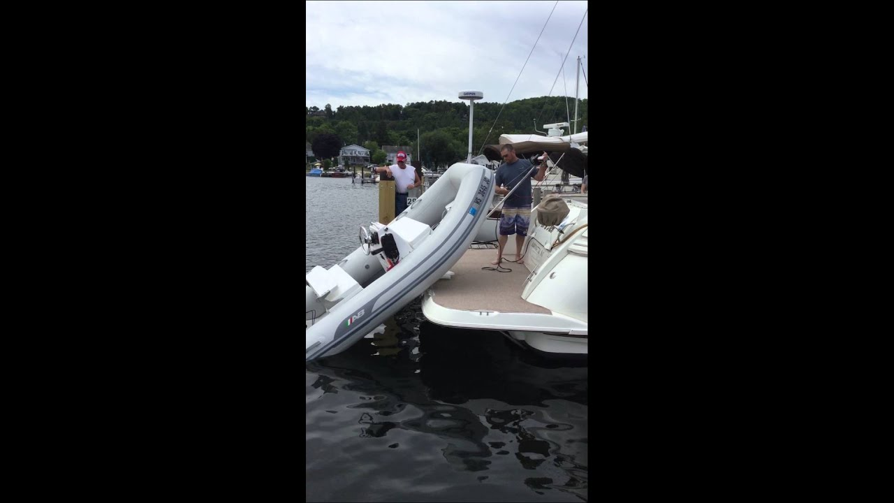 Hurley H3o Dinghy Davit And A Center Console Youtube