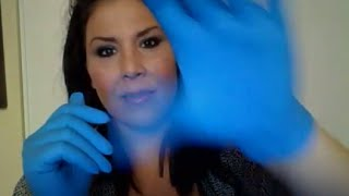 ASMR Relaxing Hand Movements, Mouth Sounds, Latex Gloves, Face Brushing