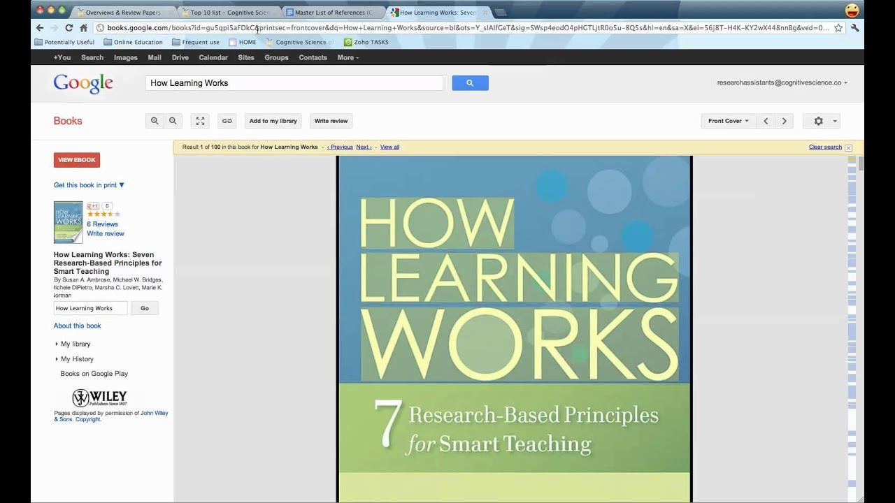 citing references on google sites
