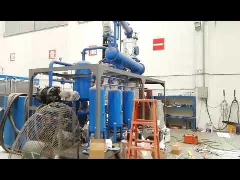 Black Engine Oil recycling Machine