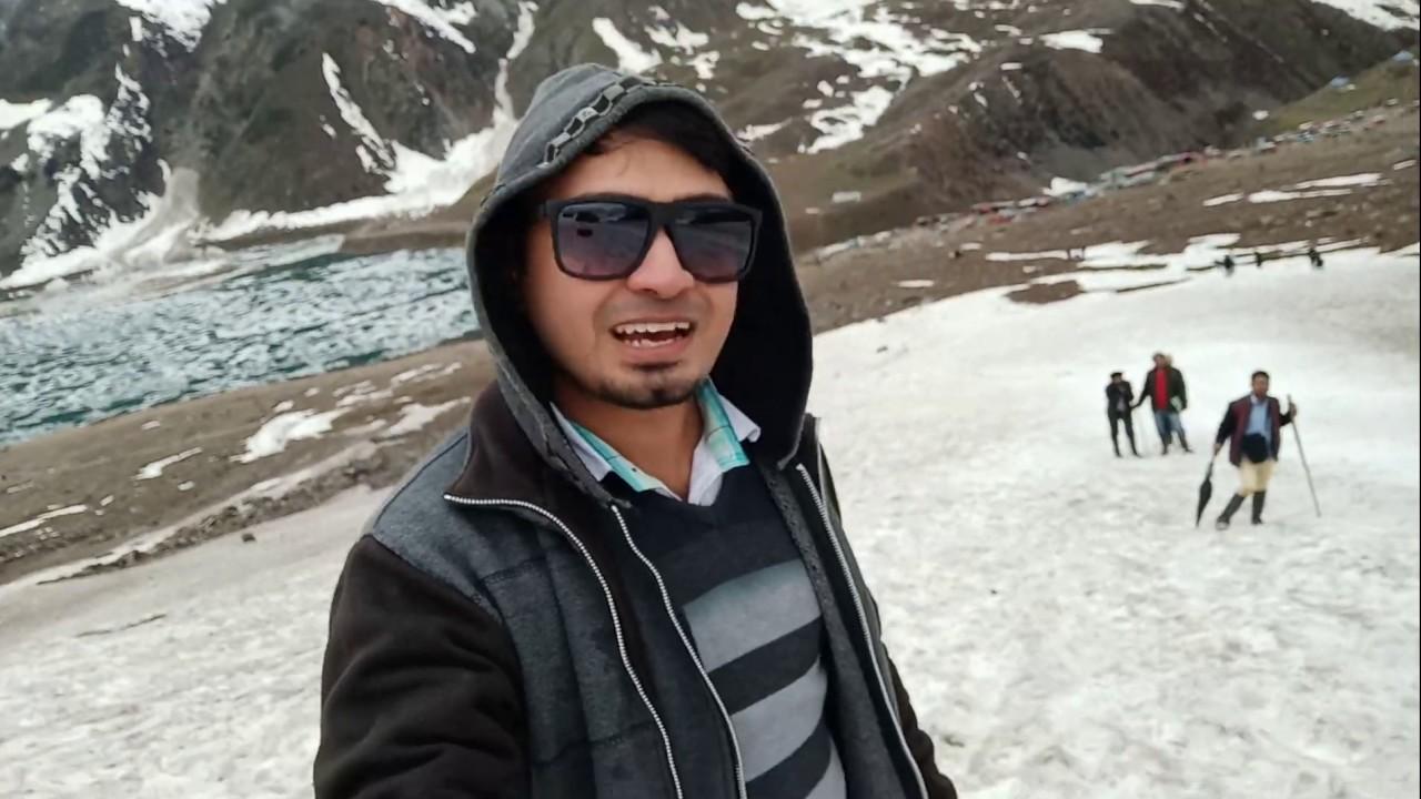 Naran - Saif ul Malook. Hiking at snow mountain. Afaq with friends