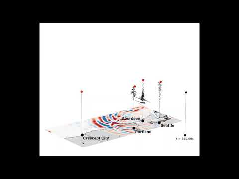 UW simulation: 9,0 Cascadia earthquake off NW Washington tip