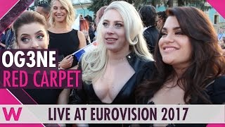 OG3NE (Netherlands) Interview @ Eurovision 2017 Opening Ceremony Red Carpet | wiwibloggs