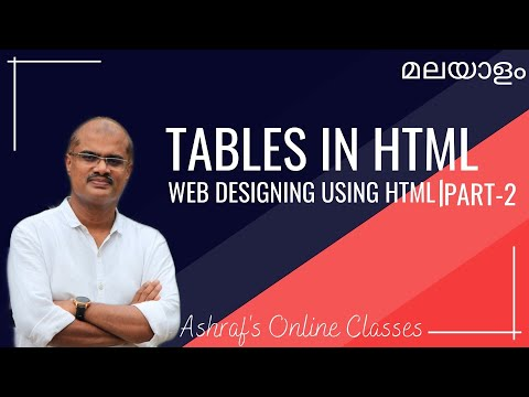 TABLES IN HTML | TUTORIAL IN GEANY | WEB DESIGNING USING HTML | +2 CS & CA | MUHAMMED ASHRAF