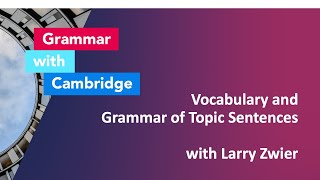 Vocabulary and Grammar of Topic Sentences with Larry Zwier