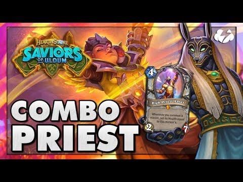 COMBO PRIEST SPOTLIGHT! | Tempo Storm Hearthstone [Saviors Of Uldum]
