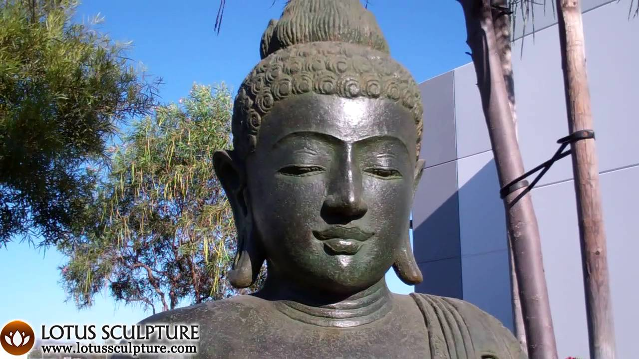 stone outdoor buddha garden statue zen garden buddha statue youtube. Black Bedroom Furniture Sets. Home Design Ideas