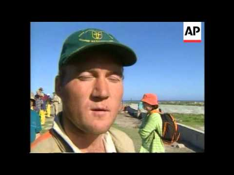 SOUTH AFRICA: OIL SPILL & PENGUIN COLONY LATEST