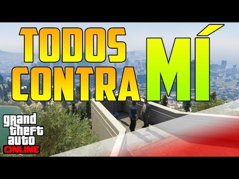 TODOS CONTRA MÍ !!!!! - GTA V ONLINE 1.10