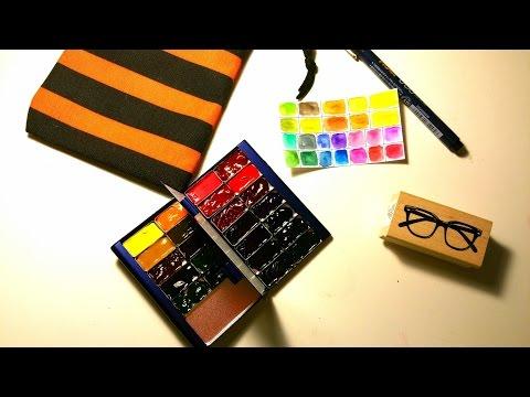 Business Card Size WaterColor Palette | SetUp Process