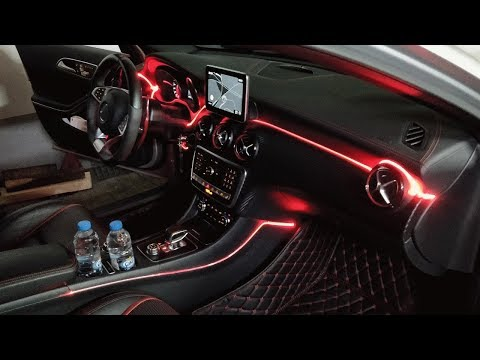Ambientebeleuchtung Nachrüsten Am Mercedes A45 AMG Von DTE-Systems