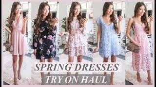 10 SPRING WEDDING GUEST DRESSES UNDER $100 | SPRING TRY ON HAUL | SPRING DRESSES 2019